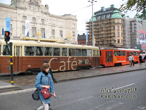 Moving McDonald's with a cafe behind