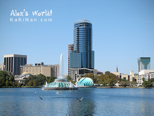Orlando city centre, Lake Eola Park