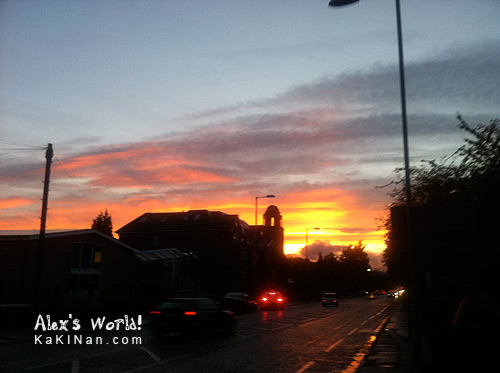 Manchester evening sky: Sunset