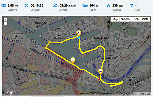 Running map from the Runtastic Website.